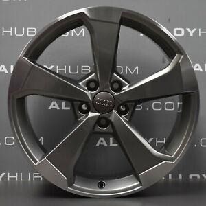 Genuine-AUDI-S3-RS3-A3-8-V-POLONAIS-Gris-5-A-19-034-POUCES-AVANT-ROUE-ALLIAGE-X1