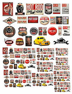 Vintage Garage Signs Decals #1 Small For Diecast & other displays