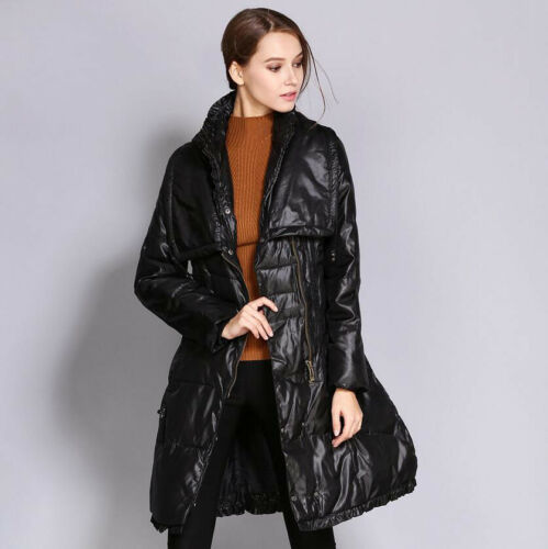 Womens Slim Polstret Parka Lang Down Jacket Neck Winter Warm Ske15 Outwear Coat V dRwxTc