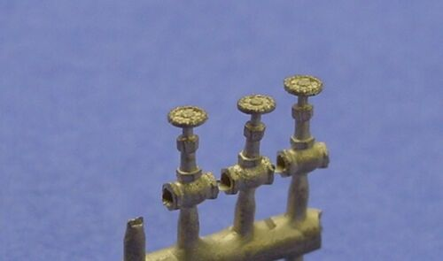 """O//On3//On30 WISEMAN BACK SHOP BRASS PARTS BS-074 GLOBE VALVES CORED FOR 2/"""" PIPE"""
