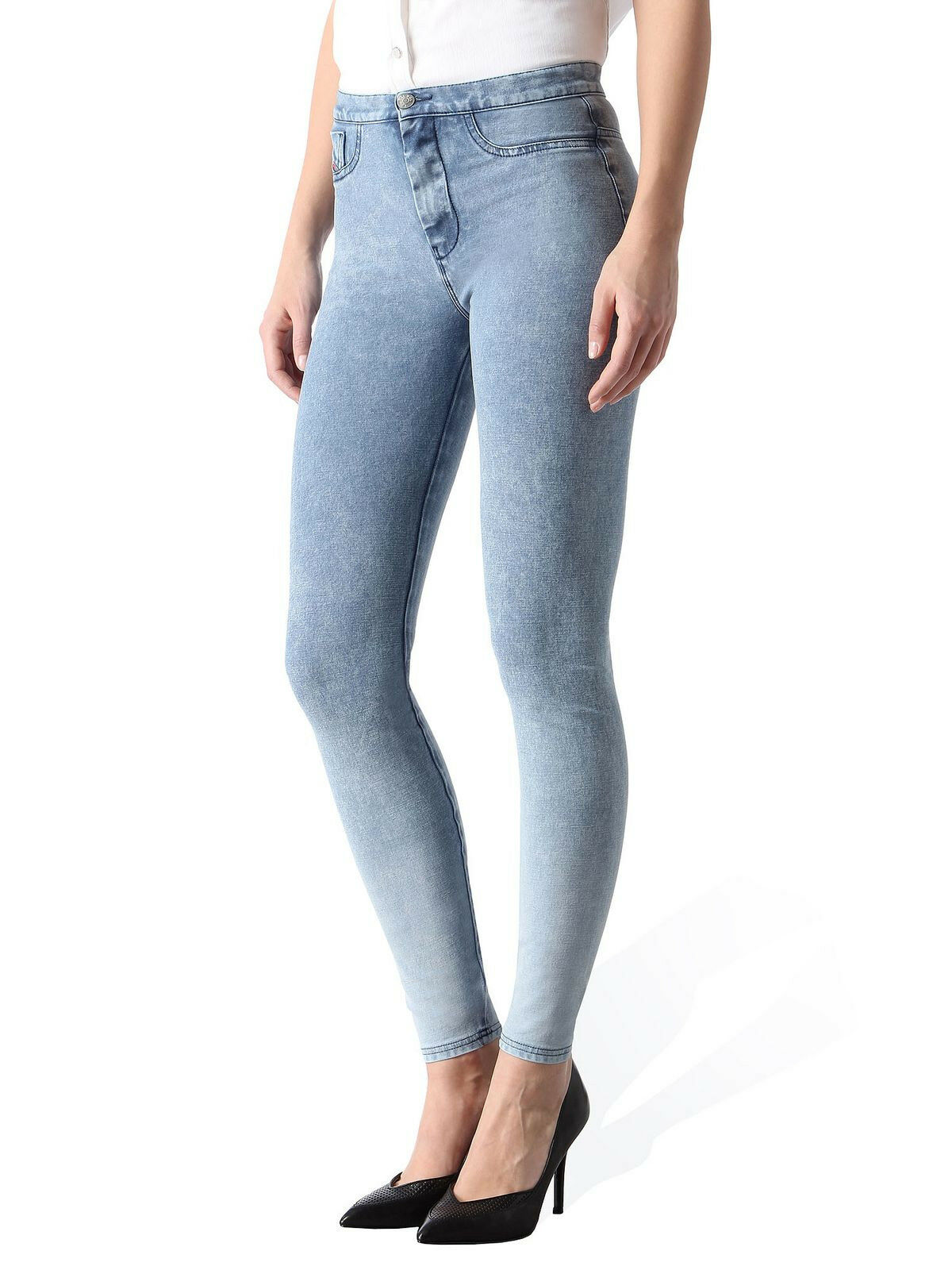 289 Authentic DIESEL Women's Cropped Skinny FLIXEE-ANKLE Motion Division Jeans