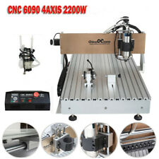 Cnc Router 6090 4axis 22kw Usb Port Milling Engraving Diy Cnc Cutting Machine