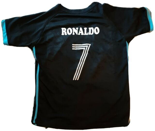 Real Madrid #7 RONALDO Fly Emirates FOOTBALL SOCCER Original Away Jersey YOUTH M