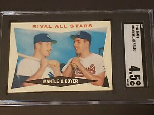 1960 Topps #160 Rival AS Mickey Mantle SGC 4.5 Newly Graded & Labelled PSA BVS