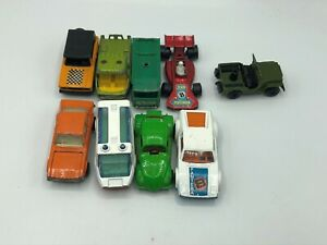 Lote-de-9-Autos-Matchbox-Toys-De-Coleccion-Lesney-1969-decada-de-1970-Jeep-Dragon-ruedas-Pantera-C9
