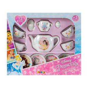 12 Pieza Official Disney Princesa De Té De Juguete De Porcelana Cena Fiesta Set-Smoby