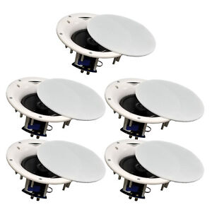 5-Pack-TDX-6-5-034-2-Way-Ceiling-Wall-Home-Theater-Speaker-Flush-Mount-White-New