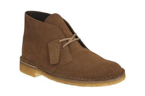 Clarks Originals Desert Boot Uomo Cola Tan pelle scamosciata stringati * Bwnt * Scarpe classiche da uomo