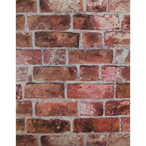 Red Brick Wallpaper He1044 Textured Vinyl Bricks Stones