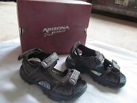 Boys Arizona Jean Co. Dark Brown Sandal Shoe Size 12m, Randy
