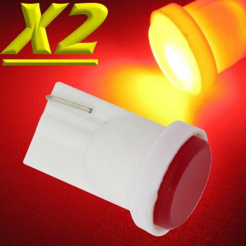 2 Lampade Led T10 COB 6 Chip Luci ROSSO Xenon Posizione Targa Interni Auto 12V