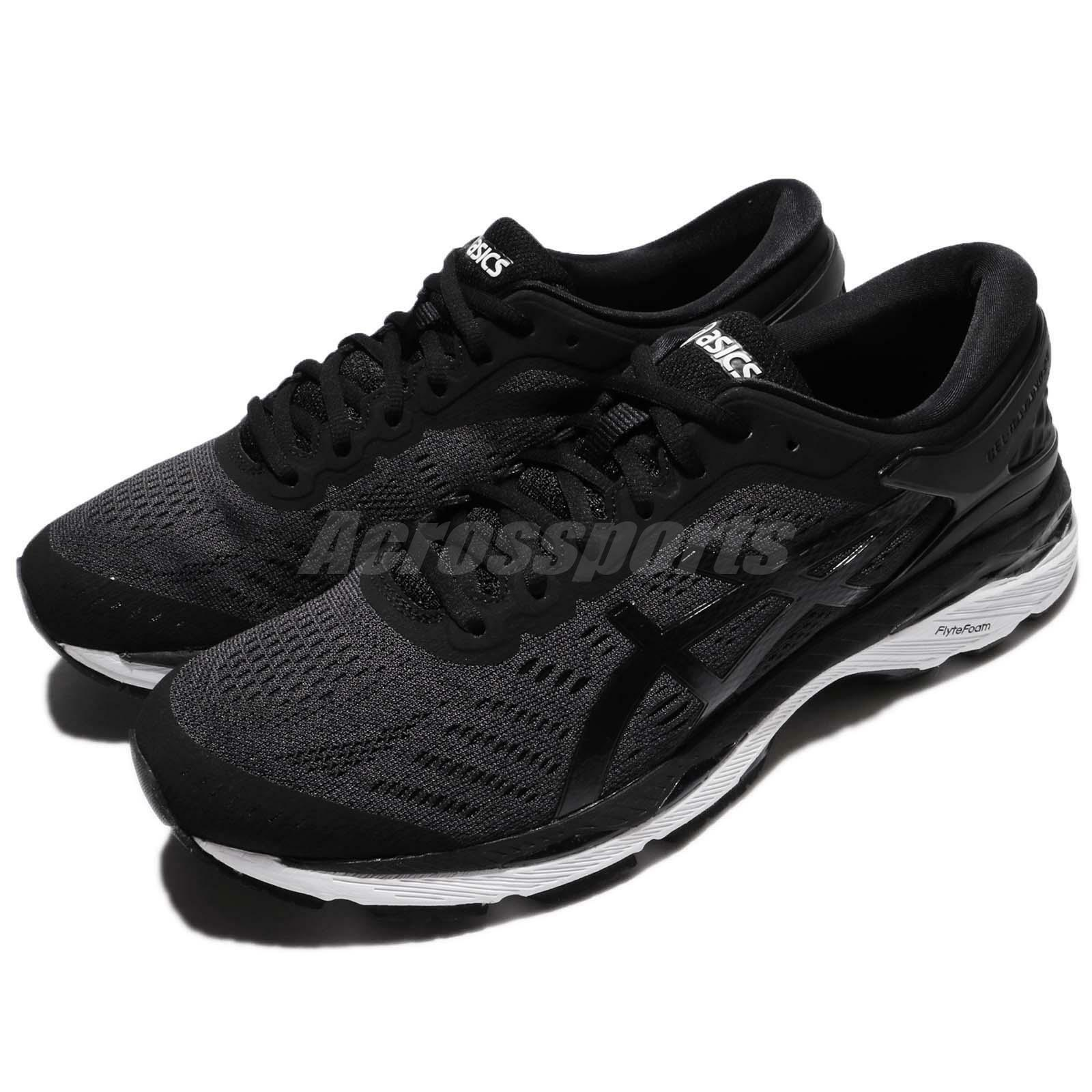 Asics Gel-Kayano 24 Black White Men Running Shoes Sneakers Trainers T749N-9016