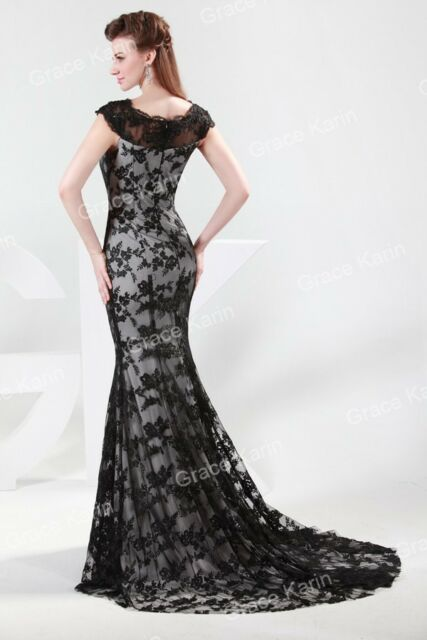 Luxury Women's Formal Evening Party Long Lace Ball Bridesmaid Prom Gowns Dresses
