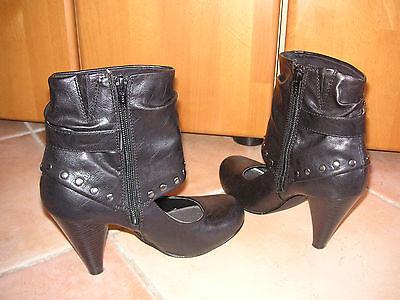 ***Damen Schuhe Pumps Stiefelletten***Gr. 37***Farbe: schwarz***Nur 2x getragen