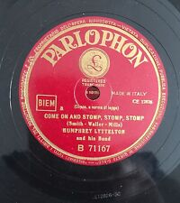 """RARE 78RPM 10"""" PARLOPHON HUMPHREY LYTTELTON AND HIS BAND COME ON AND STOMP, STOM"""