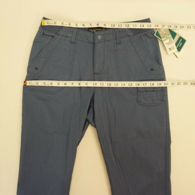 583f21f9 Lee Platinum Women's Blue Relaxed Fit Mid Rise Cuffed Cargo Capri ...