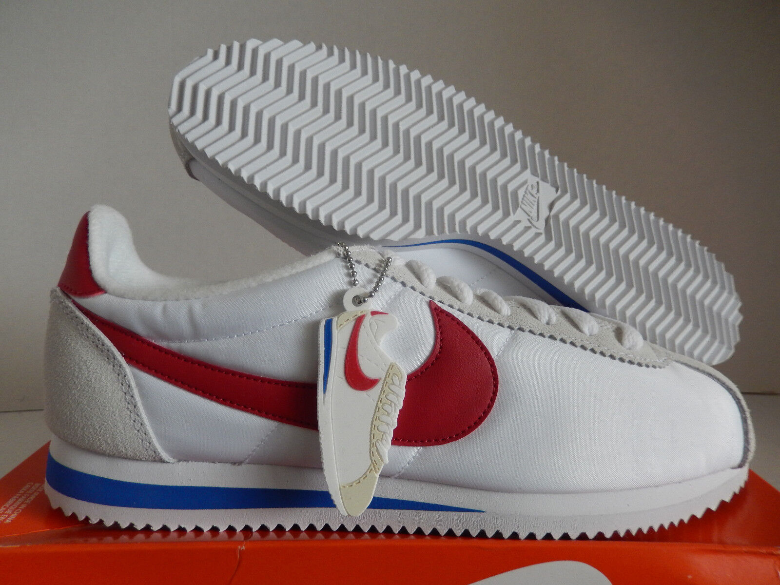 Nike classico cortez - qs forrest gump white-red sz 8 [847709-164]