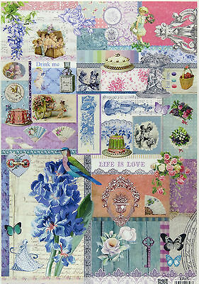 Rice Paper for Decoupage Scrapbooking Sheet Craft Life is Love 226