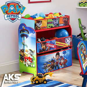 PAW Patrol Kids Toy Organizer Bin Children\'s Storage Box Bedroom ...
