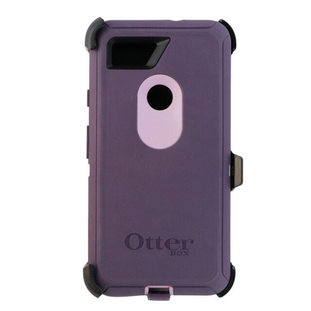 pretty nice 3ad55 151e6 OTTERBOX Defender Case No Belt Clip/ Holster for Google Pixel 2 XL Purple  Hd145