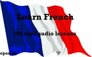 Learn French 100 Lessons Audio Book MP3 CD iPod Friendly French Language disc