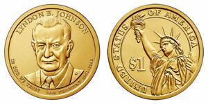 2015-D $25 Lyndon B Johnson Golden Dollar Coin Roll  Uncirculated President Mint