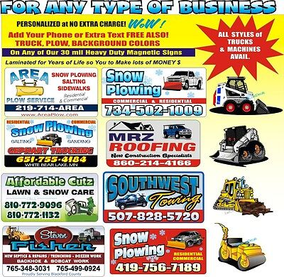 2 Custom Business Decals Stickers Landscaping Job Trailer Truck Carpet Cleaning