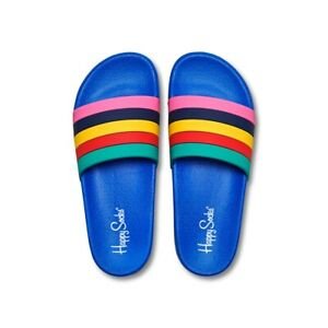 Ciabatte-Unisex-Happy-Socks-POOL-SLIDER-STRIPES-Multicolore-SDT114-6001