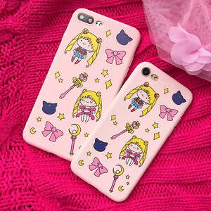 Cute Cartoon Sailor Moon Luna Cat Soft Phone Case Cover for iPhone ... 28963e08c
