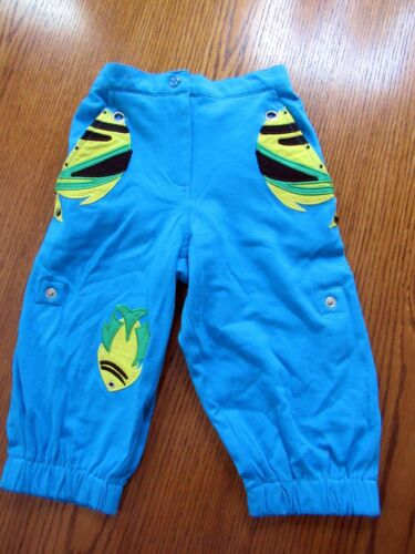NWT MICHAEL SIMON boutique BLUE FISH KNIT PANTS 2T