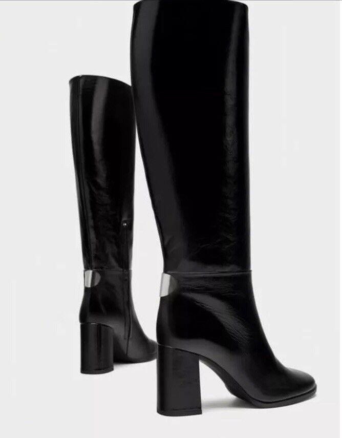 Zara Reino Unido Unido Unido Mujeres Tacón Alto botas De Cuero 6013 201 040,US 36, Reino Unido 3  los últimos modelos
