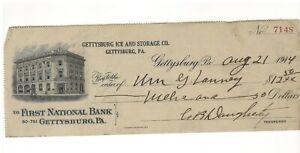 1914 Gettysburg PA Pennsylvania Ice & Storage Co. William Lanney, C R Daugherty