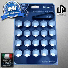 (20) NEW 19MM HEX CHROME CAP COVERS LUG BOLTS NUT PORSCHE CAYENNE WHEELS ITALY