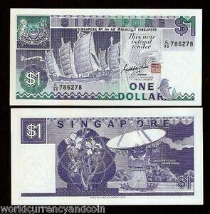 SINGAPORE 1 Dollar X 100 PCS 1987 P-18a SHIP SERIES Full Bundle UNC