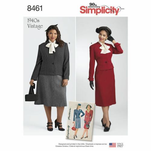 Sizes 6-28W SIMPLICITY VINTAGE 1940/'s SERIES Reissued Sewing Patterns UPick