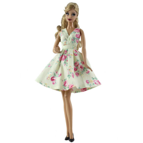 12inch Girl Doll Floral Dress 1//6 Fashion Party Dress Clothes Accessories
