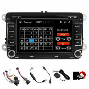 autoradio navi doppel din mit cd dvd gps navigation canbus f r vw free map ebay. Black Bedroom Furniture Sets. Home Design Ideas