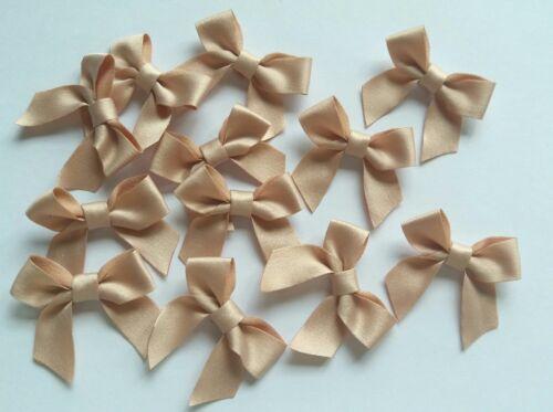 "R0155N 1-1//4/"" Nude Fabric Polyester Plain Ribbon Bows DIY-12 pcs"