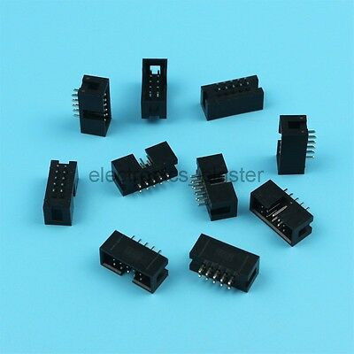 10pcs 2*5 10pin Double Row Male IDC Socket Straight Header connector 2.54mm