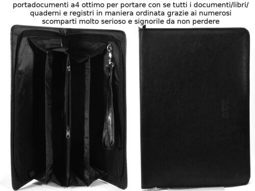 PORTAFOGLIO CARTELLA PORTADOCUMENTI FOGLI A4 REGISTRO LAVORO CONFERENZE GRANDE