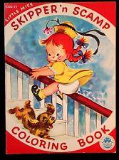 Unused Coloring Book Little Miss Skipper 'n Scamp Merrill 1949