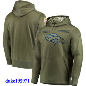 the best attitude a46cf fc1f2 Details about Nike Denver Broncos 2018 Mens NFL Salute to Service Therma  STS Hoodie XL