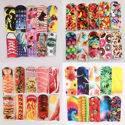 Hot 1 Pair New Casual Unisex 3D Cute Printed Low Cut Cotton Ankle Socks