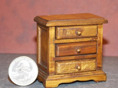 Dollhouse Miniature Walnut Night Stand 112 one inch scale K72 Dollys Gallery