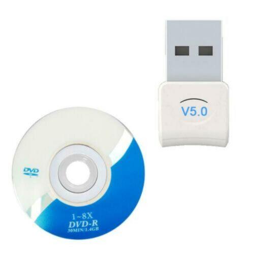 headphone Mini usb bluetooth v5.0 dongle audio transmitter speaker White Bu