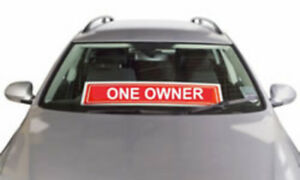 Jumbo-Screen-Banners-Red-034-One-Owner-034-355mm-x-940mm-SSL0297