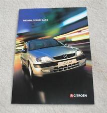 Citroen Saxo Brochure 1999 - First LX SX Exclusive VTR VTS 1.1 1.4 1.6 16v 1.5D