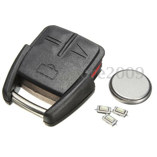 3 Buttons Remote Key Fob Case Repair Kit With Battery for VAUXHALL OPEL  VECTRA