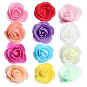 100pcs 3.5cm Mini PE Foam Rose Artificial Flower Head for DIY Wedding Home Decor