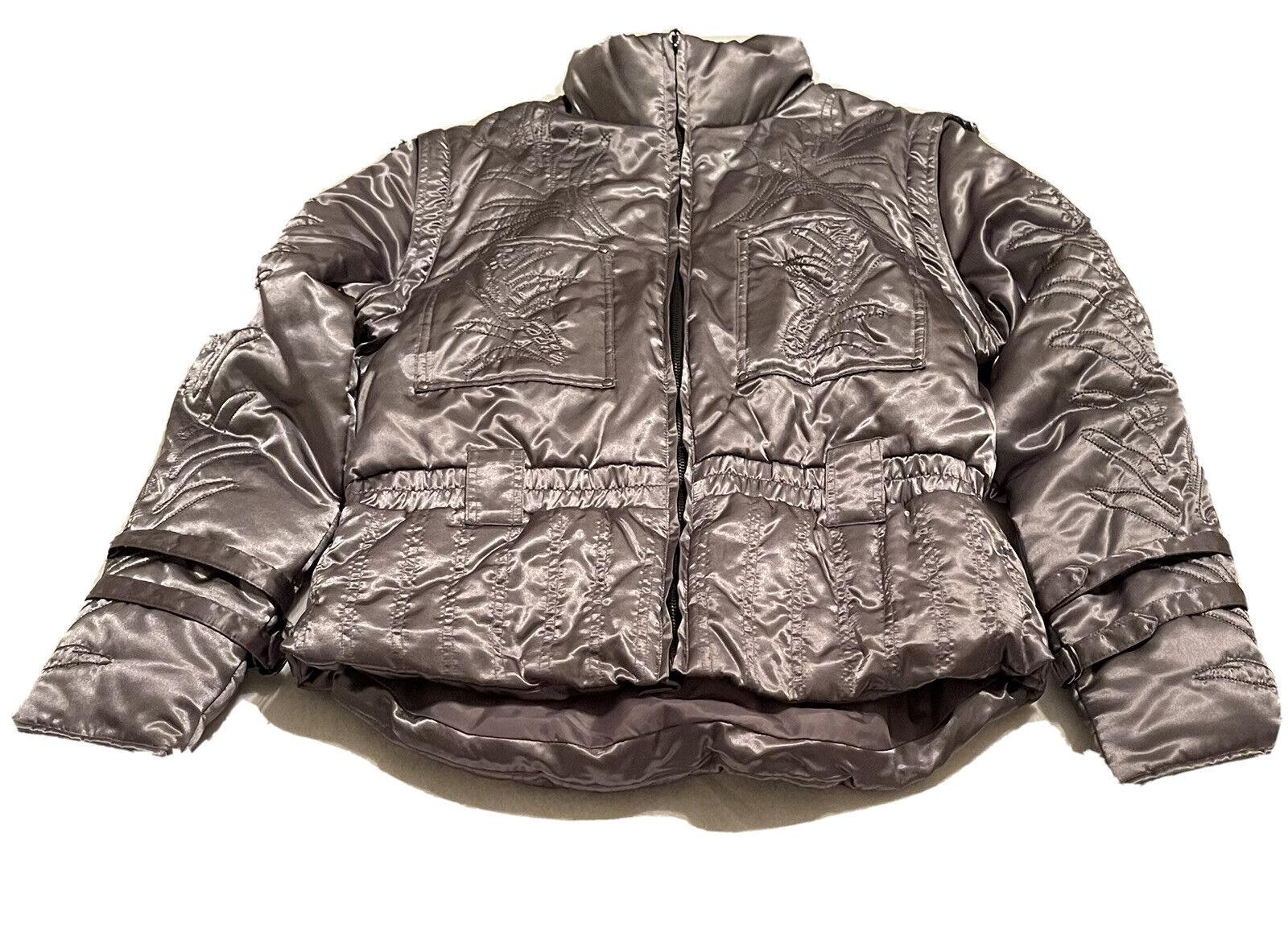 Brandon Thomas Jacket Coat Size X-Large Gray Raw Puffy